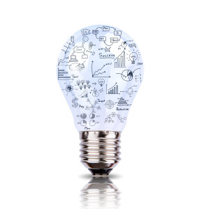 bigstock-Light-bulb-with-drawing-graph--44465398